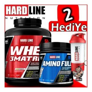 Hardline Whey 3 Matrix 2300 Gr Protein Tozu + Hardline Amino Full Amino Asit 300 Tablet İndirimli