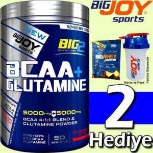 Bigjoy Big2 Bcaa + Glutamin 2 si 1 Arada 50 Servis 600 Gr KARPUZ Aromalı 2 HEDİYELİ HIZLI GÖNDERİ
