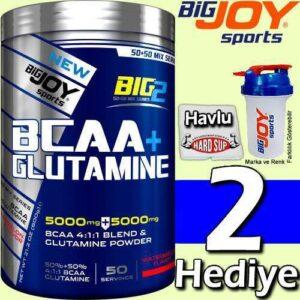 Bigjoy Big2 Bcaa + Glutamin 2'si 1 Arada 50 Servis 600 Gr KARPUZ Aromalı 2 HEDİYELİ