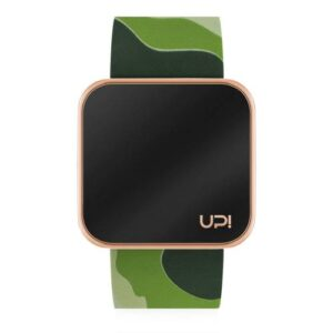 UPWATCH TOUCH SHINY ROSE&GREEN CAMOUFLAGE