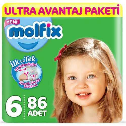 Molfix Ultra Avantaj Paketi 6 Beden 86 Adet