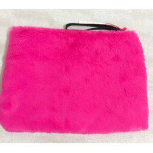Çanta Pembe kürk görünümlü tüylü peluş el çantası KARGO DAHİL 53,00 TL