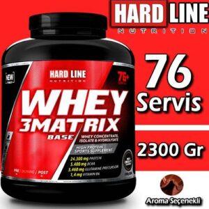 Hardline Whey 3 Matrix 2300 Gr BASE (Kreatinsiz) Whey Protein Tozu SKT 12-21 Hardlıne Helal Sertifik