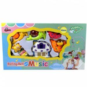 Kurmalı Müzikli Işıklı Hayvan Figürlü Dönence Bebek Odası Oyuncak Dönence-5401/02/03/04/05