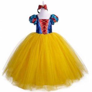 Tarlatanlı - Pamuk Prenses Kostümü - Kabarık Pamuk Prenses Kostüm - Lüks Özel Üretim + TAÇ HEDİYE