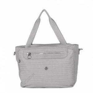 Özel Kumaş Bayan Omuz Çantası Smart Bags 3012 Noktalı Gri 78