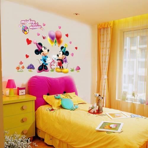 Miki Fare Süs Çıkarma Set ve Minnie Sticker Çocuk Bebek Çocuk Odası Dekoru Duvar Dekorasyon