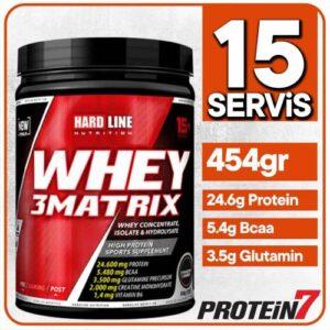 Hardline Whey 3Matrix 454gr - 2 Farklı Aroma Seçeneği