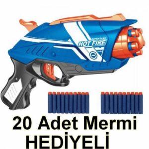 Nerf Döner Namlu Dart Atan Silah 20 Adet Yumuşak Dart Mermi Oyuncak Tabanca