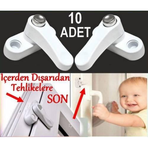 Metal 10 Adet Pvc Kapı Pencere Pimapen Emniyet Kilidi Hırsız İçin Düğmeli Kilit Bebek Çocuk Güvenlik