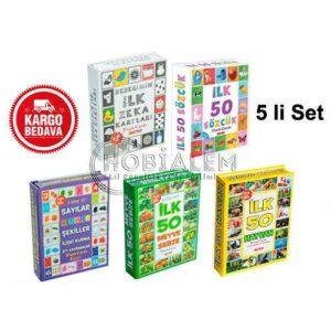 Diy Toy, Zeka Kartları, 5 li Set, Eğitici Kartlar, Zeka Kartı, Gelişim Kartı,Eğitici Hafıza Kartları