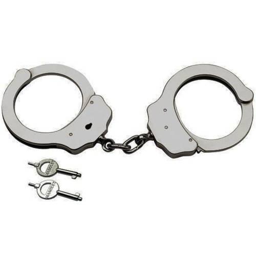 Paslanmaz Çelik Kelepçe, Metal Anahtarlı Kilitli Masolet Polis Kelepçesi