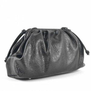 Siyah Burslu Bohça Ayarlanabilir Askılı Kadın Çanta