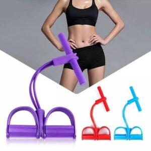 Body Trimmer 4 Lastikli Egzersiz Aleti El Ayak Direnç Yayı Lastiği Spor Vücut Karın Kondisyon Lastik