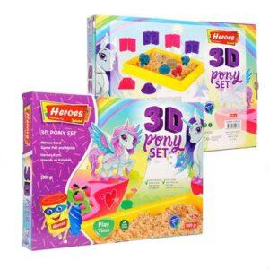 Kinetik Kum, 3D Pony Oyun Kalıpları, Büyük Oyun Havuzu, 4 Renk 1 Kg Kum, Oyun Kumu, Ücretsiz Kargo