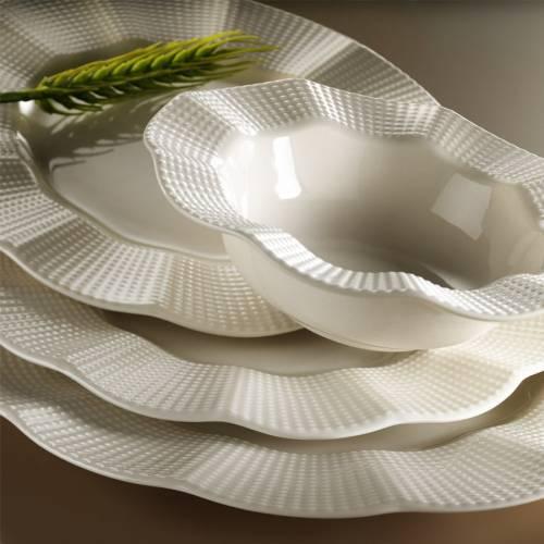 Kütahya Porselen Milena Beyaz 24 Parça Yemek Takımı