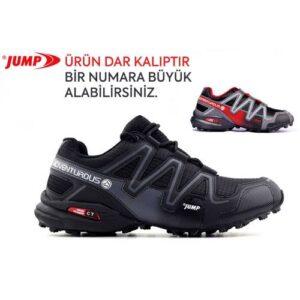 Jump Erkek Spor Ayakkabı Outdoor 21513 Siyah Gri ve Siyah Kırmızı