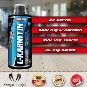 Hardline L-Karnitin Sıvı 1000 ml LİMON AROMALI L- Carnitine Taksitli Satış Yağ Yakıcı Kilo Kontrol