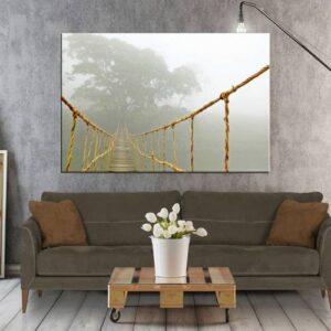 Asma Halat Köprü Manzara Tablosu 90X120 cm Kanvas Tablo