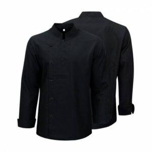 Lüks Şef Aşçı Ceketi - Siyah