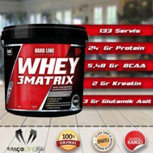 Hardline Whey 3Matrix 4000 Gr ÇİKOLATA