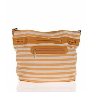 Sarı ve krem rengi çizgili omuz çantası KARGO DAHİL 110,00 TL