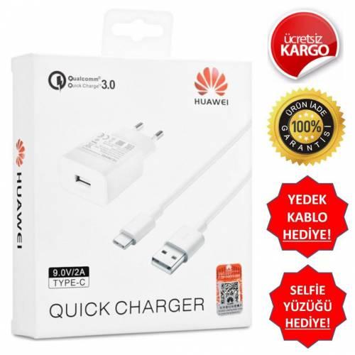 Huawei 3.0A Type-C Hızlı Şarj Aleti + Şarj ve Data Kablosu