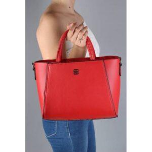 Kırmızı Kasalı El ve Omuz Askılı Çanta - Canga