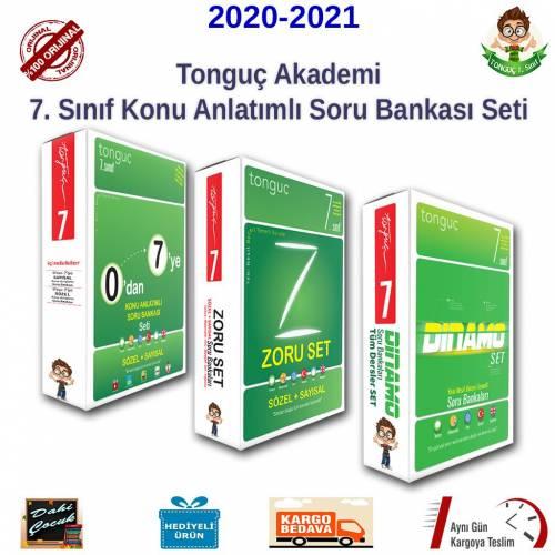 Tonguç Akademi 7. Sınıf Konu Anlatımlı Dinamo Soru Bankası Zoru Bankası Tüm Dersler Full Set 9 Kitap
