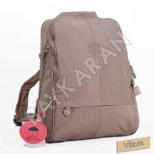 1117 Krinkıl Kumaş Kadın Sırt Çantası Smart Bags 15 Vizon