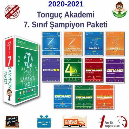 Tonguç Akademi 7. Sınıf Şampiyon Paketi Seti 11 Kitap Tüm Dersler