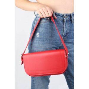 Kırmızı Baget Kadın Çanta - Tear