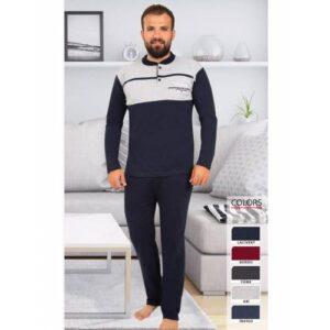 Tampap 825U Ekonomik Pamuklu Kalın Kışlık Pijama Takım