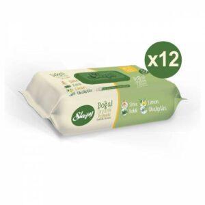 Sleepy Doğal Organik Pamuklu Temizlik Havlusu 50 Li 12 Paket 600 Kullanım