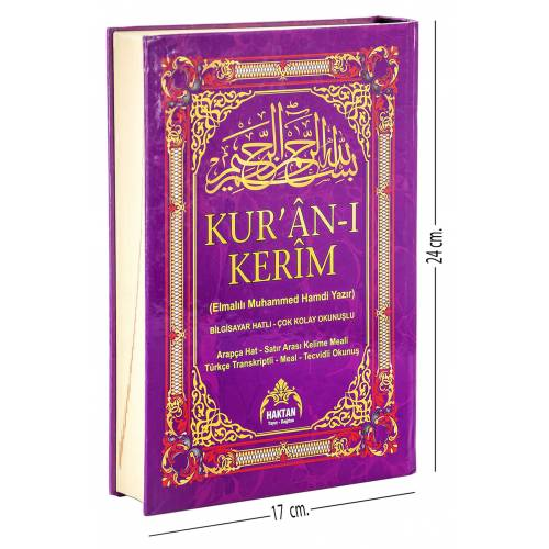 Kuranı Kerim ve Satır Arası Kelime Kelime Türkçe Okunuşlu ve Meali - 5 Özellikli - Mealli Kuran - Or