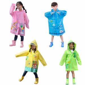 Hayvan Figürlü Kapüşonlu Çocuk Yağmurluk - Çocuk Yağmurluğu - Unisex Yağmurluk