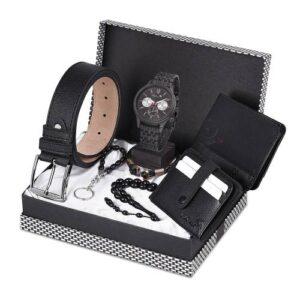 Polo Air Erkek Kol Saati Kemer Cüzdan Kartlık Tesbih Anahtarlık Bileklik Kombin Set PL-0401E