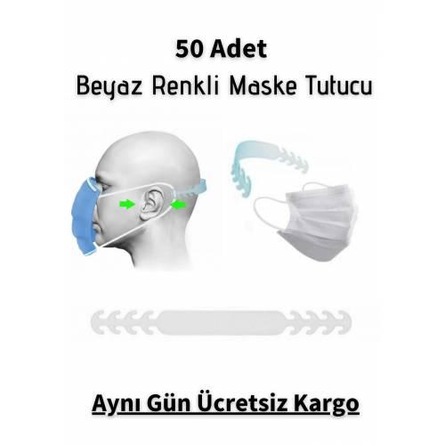 50 Adet Beyaz Renk Maske Tutturma Aparatı Maske Tutturucu Kulak Koruyucu Maske Tutma Aparatı Tokası