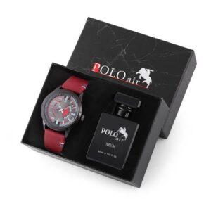 Polo Air Erkek Kol Saati Parfüm Hediyelik Set Kombin PL-0416E