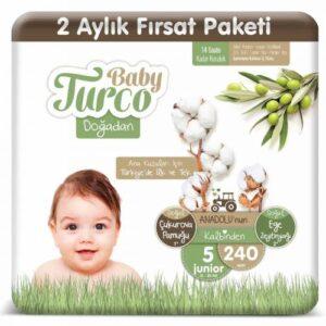 Baby Turco Doğadan 5 Beden 240 Adet