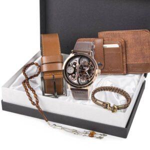 Polo London Erkek Set Saat,Kemer,Cüzdan,Kartlık,Bileklik,Tespih 4 RENK E250-B170