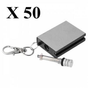 Zippo Benziniyle Çalışan Bitmeyen Metal Kibrit Anahtarlık 50 Adet