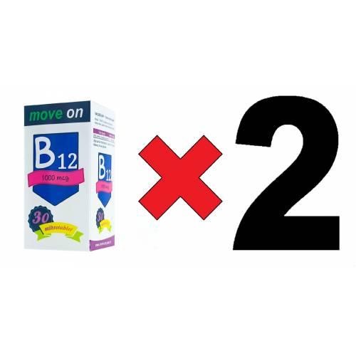 Move On Vitamin B12 (2 ADET) 1000 mcg 30 Dilaltı Mikrotablet SKT:2024