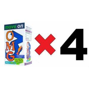 Move On OMEGA 3 1000 mg (4 ADET) (Balık Yağı) EPA 360 /DHA 240. 30 Kapsül SKT: 2023