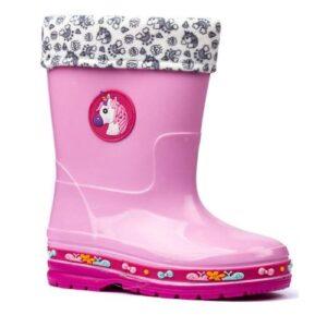 Gezer 574 Kız Çocuk  Yağmur Çizme İçi Yünlü Kar Botu