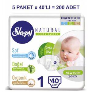 Sleepy Natural 1 Beden 40 Adet
