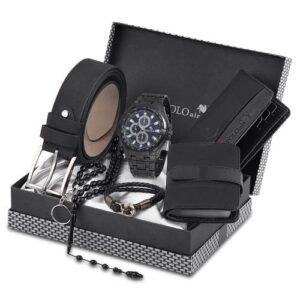 Polo Air Erkek Kol Saati Kemer Cüzdan Kartlık Tesbih Anahtarlık Bileklik Kombin Set pl-0429E1