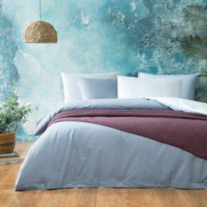 Yataş Bedding Noah Ranforce Nevresim Seti (Çift Kişilik) -Nil Yeşili/İndigo