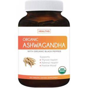 Ashwagandha Organik 1350mg 120 Kapsül Vejeteryan ASHWAGANDHA - Orjinal