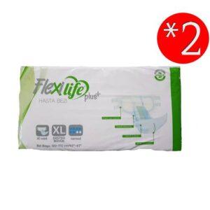 Flexilife Plus Tekstil Yüzeyli Hasta Bezi Extra Büyük Boy-XLarge 30 Lu 2 Paket 60 Kullanım